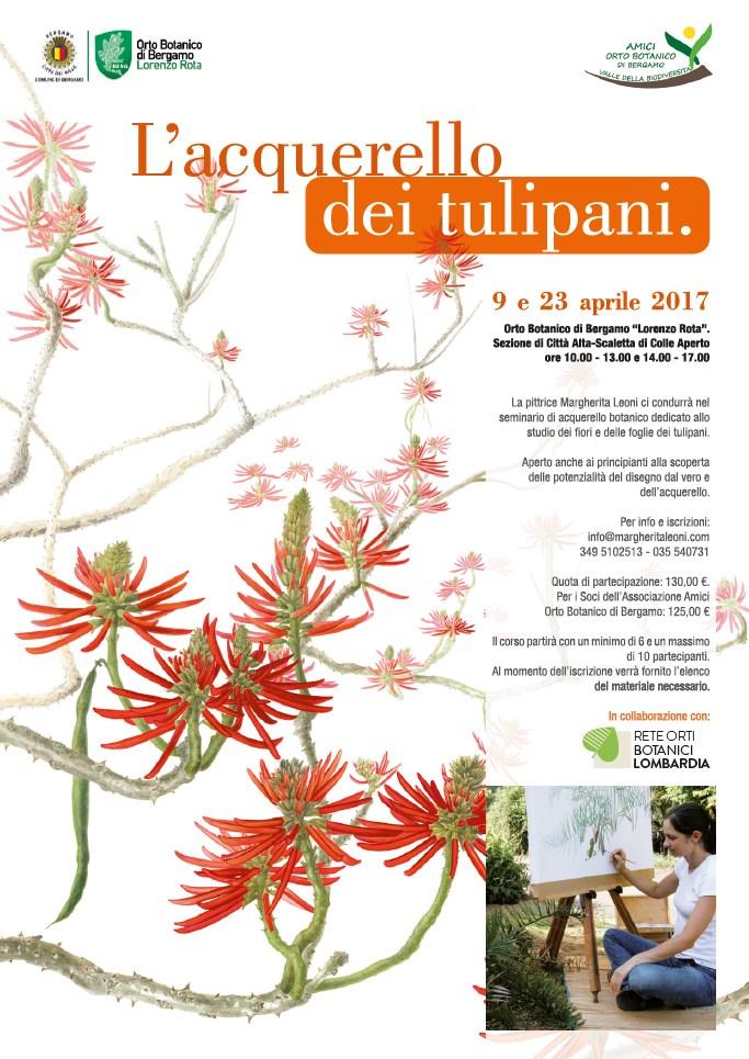 Corso di Margherita Leoni - L'acquarello dei tulipani - 2017